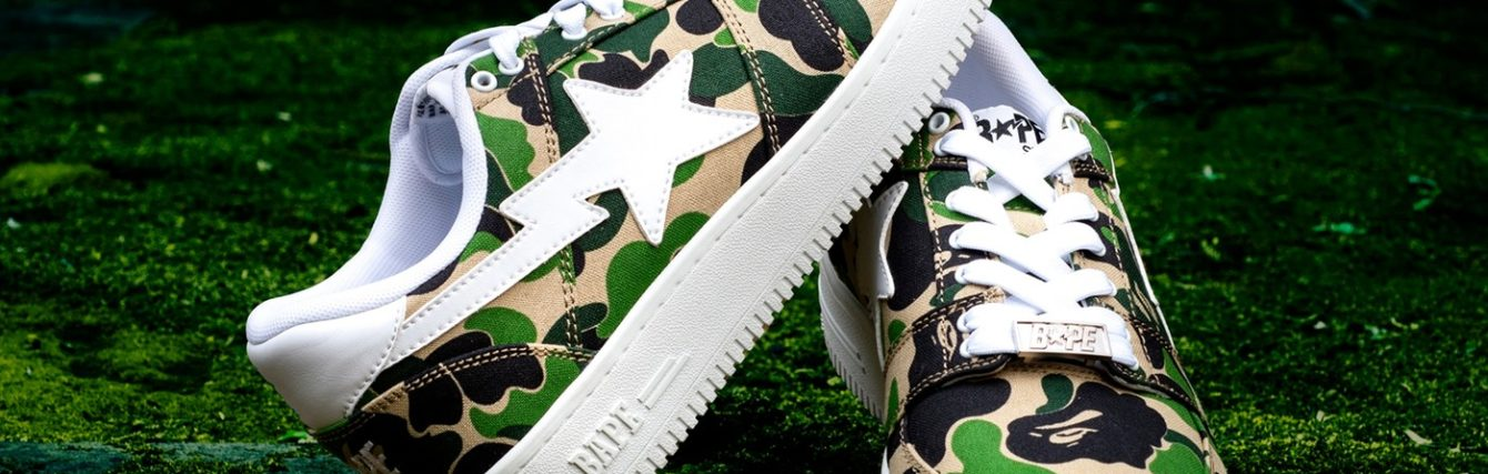Bape bapesta low Camo abc